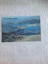 Air View Lake Mohave Arizona Postcard Davis Dam Edison Power Plant Marina Resort