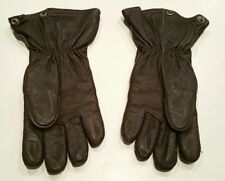 Fox Chase Knitting Mills WW2 Leather Heated Aviator Gloves Parachute Army Sz 10