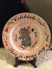 Beautiful Unique Ceraminier Elephant Celebration Plate/Italian/B-Day/Graduation
