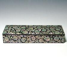 Boîte à Carte de visite Crayon Bois Décoration Art Nouveau Nacre Luxe Asie Corée
