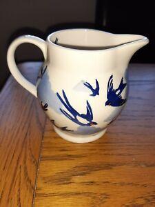 Rare Sample Emma Bridgewater Blue Swallows In The Clouds Half Pint Jug - Lynsey.