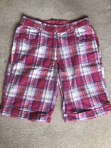 Cotton Traders Pink And Blue Check Shorts - Size 10