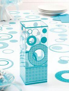 6 teal wedding centerpieces reception tables decoration bridal shower decoration