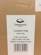 NEW GREENWOOD AIRVAC UNITY CV2GIP AIR EXTRACTOR KITCHEN/BATHROOM FAN
