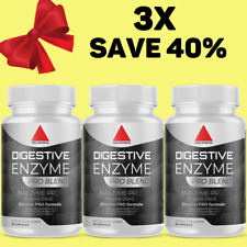 Digestive Enzymes w/ Prebiotic & Probiotics, Gas, Constipation - Pack of 3