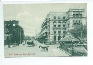 Printed postcard of York street from the Jetty in Colombo Ceylon good condition