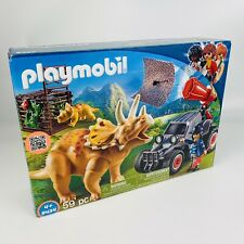 Playmobil 9434 Dinos Enemy Quad with Triceratops Kids Play Game