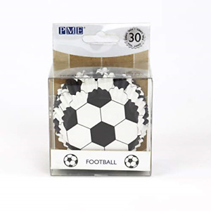 PME BC829 Football Cupcake Cases, Foil Lined - 30 Pack