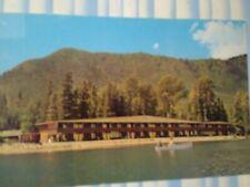 VINTAGE POST CARD VILLAGE INN LAKE MC'DONALD GLACIER  NATIONAL PARK MONTANA