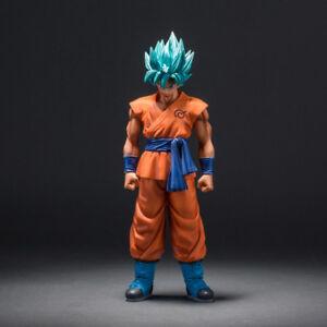 MSP Dragon Ball Z Super Saiyan God Son Goku Action Figure Blue Hair Goku 25CM Dr