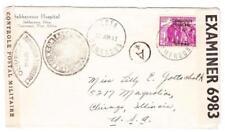 Cameroun FRENCH MANDATE-Sc#275(Single frank)-EDEA 27/JUIN/41-WWII CENSORS