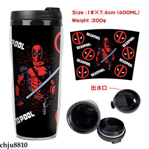 Deadpool Thermos cup Double insulation cup portable Leisure cup plastic cup