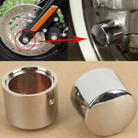 Front Axle Nut Cover Bolt For Harley Touring Softail Road King Street Glide FLHX
