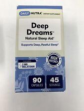 Deep Dreams Natural Sleep Aid Melatonin 2mg GABA Chamomile Non-Habit 90 ct