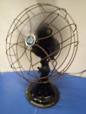 "Vintage EMERSON ELECTRIC 1933 Oscillating /Tilt FAN 18"" Tall 4 Blade 3 Speed"