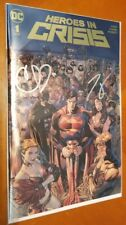 Heroes In Crisis #1 Gold Foil Variant signed by Tom King & Clay Mann
