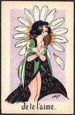 Wuyts. La Marguerite. Cinq cartes aquarellées aux pochoirs vers 1910