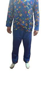 Womens Ladies Floral Pyjamas Long Sleeve Nightwear Sleep Sleeping Suit-Set