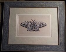 """Delft blue """"All Aflutter"""" butterfly by Jennette Brice picture, 18 3/4"""" x 23 1/4"""""""