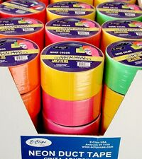 """48 rolls - Duct Tape ASSORTED 4 NEON  COLORS - 1.89"""" (2"""") x 10 yards"""