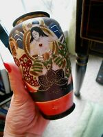 Kutani Vase Goddess Geisha  Moriage Japanese Vintage
