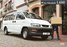 Prospekt / Brochure Mitsubishi L400 05/1998
