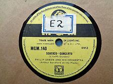 PHILIP GREEN - Scherzo Concerto / La Maja De Goya 78 rpm disc (A+++)