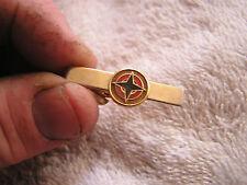 Vintage Tie Tack Clip Clasp with Black Star