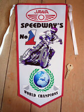 JAWA SPEEDWAY RACER No1 WORL CHAMPIONS PENNANT ESO etc