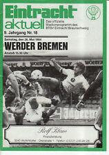 BL 83/84 Eintracht Braunschweig - SV Werder Bremen