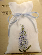 Counted cross-stitch Potpourri Bag kit – Blue Lavender