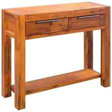 vidaXL Console Table Solid Acacia Wood 86x30x75 Cm