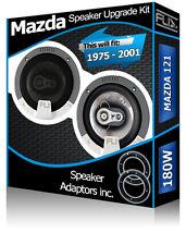 Mazda 121 Rear Door Speakers Fli car speakers + speaker adapter pods 180W