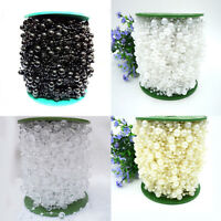 10M FAUX PEARL BEAD STRING GARLAND WEDDING TABLE PARTY DECORATION CELEBRATION UK