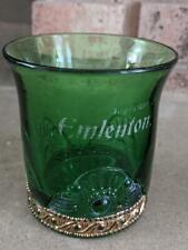 Antique EAPG Emlenton Souvenir Green Glass Tumbler Cup