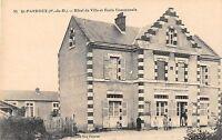 CPA 63 SAINT PARDOUX HOTEL DE VILLE ET ECOLE COMMUNALE