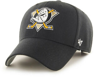 Anaheim Ducks 47 Brand MVP Black NHL Team Cap