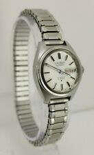 Vtg 1970 Seiko 2706-0020 Automatic Hi-Beat 21 Jewels Day Date Ladies Wrist Watch