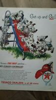 1954 Texaco Fire Chief gasoline gas Dalmatian dogs playground slide ad