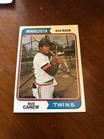 1974 Topps Rod Carew Minnesota Twins #50 Baseball Card