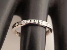 Art Deco 14k  Diamond ETERNITY Band Designer Wedding Ring Single Cut 1.0 ct G/VS