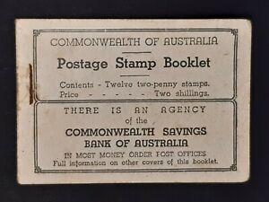 Australia c.1934 King George V 2/- Booklet INVERTED C of A Wmk w/ Full 12 Stamps