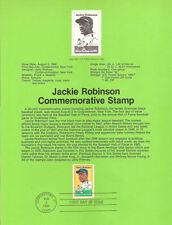 #8226 20c Jackie Robinson Stamp - Scott #2016  USPS Souvenir Page