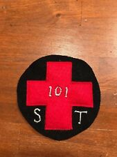 WWI US Army 26th Division, 101st Sanitary Train patch AEF