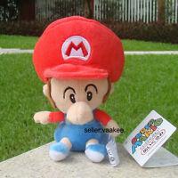 "Baby Mario 6"" Super Mario Bros Run Son Plush Toy Lovely Stuffed Animal Soft Doll"