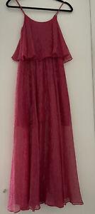 Halston Heritage Pink Metalic Dress