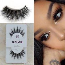 TOP LASH Real 3D Mink Hair Black Thick Long False Fake Eye Lashes Eyelashes