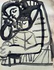 CARLOS CARNERO (1922-1980) ORIGINAL PAINTING - MOTHER & CHILD - LEGER ASSISTANT