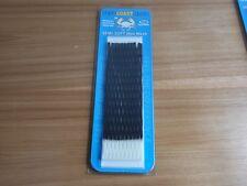 East Coast Dyes Semi-Soft Wax Lacrosse Mesh 15mm black/white