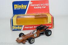 DINKY TOYS 226 FERRARI 312 B2 RACING CAR MET. BROWN MINT BOXED